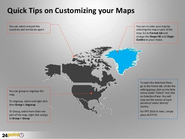Map of north america editable powerpoint presentation map of north america countries territories dependencies divisions 2 toneelgroepblik Image collections