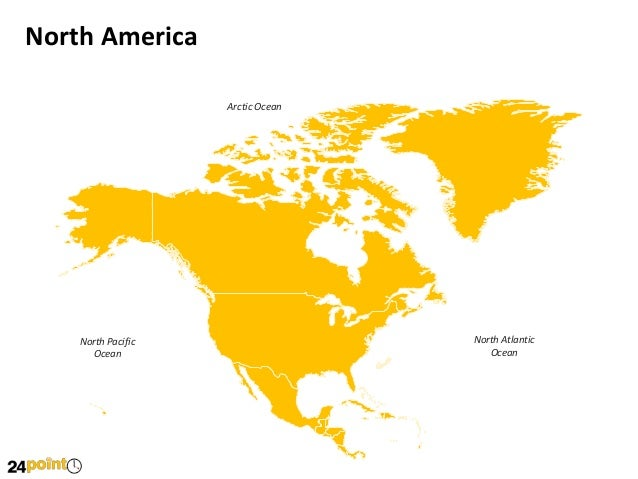 Map of north america editable powerpoint presentation north america toneelgroepblik Image collections
