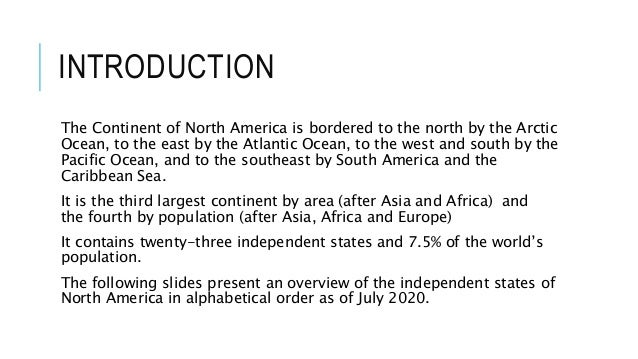 North America 2020 Slide 3