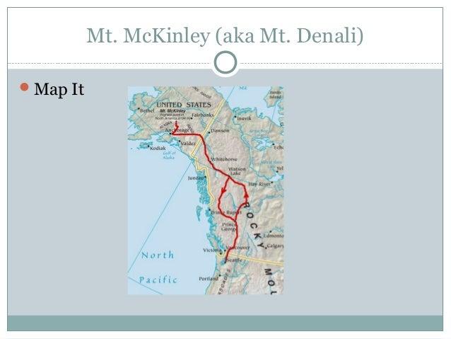 North America Landforms - Mount mckinley on us map