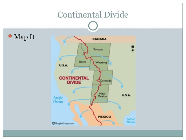 Continental Divide On Us Map.North America Landforms