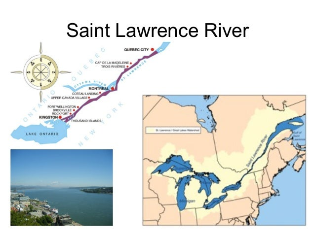 North America Map One - St lawrence river on us map