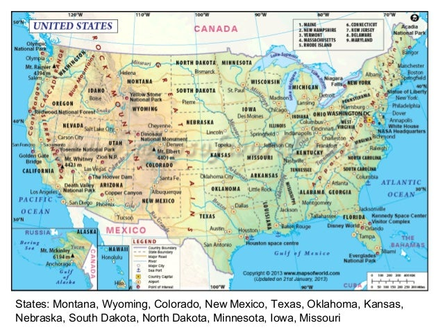 North America Map Three - The north american map