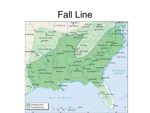 North America Map Two - Georgia map fall line