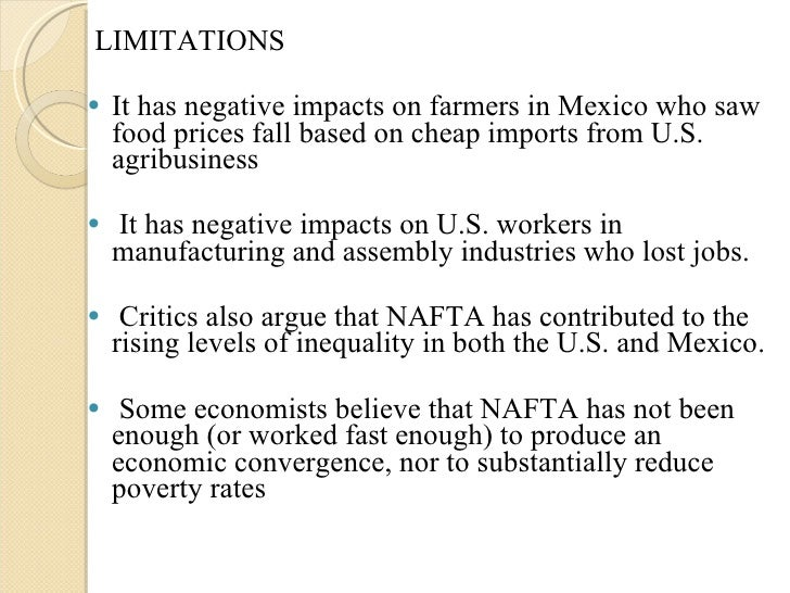the original objectives and impact of the north american free trade agreement nafta As talks to renegotiate the north american free trade agreement kick off in washington, dc, explore what brookings experts have said about the pact, its benefits and costs, and how best to.