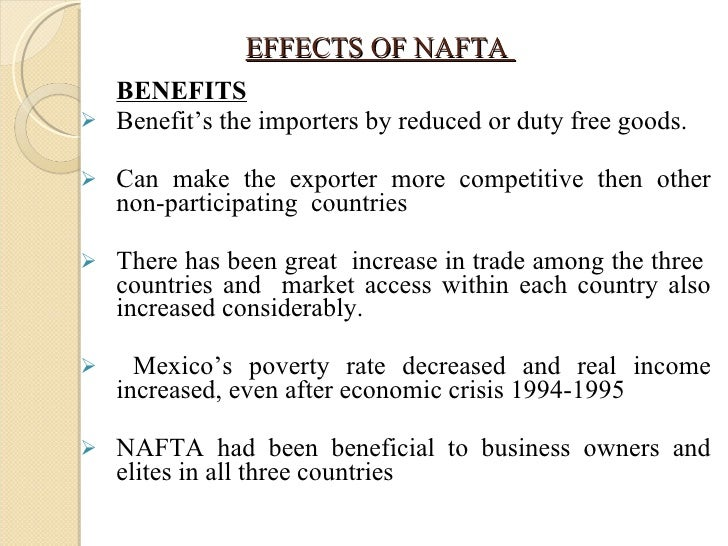 north american trade agreement  8 effects of nafta