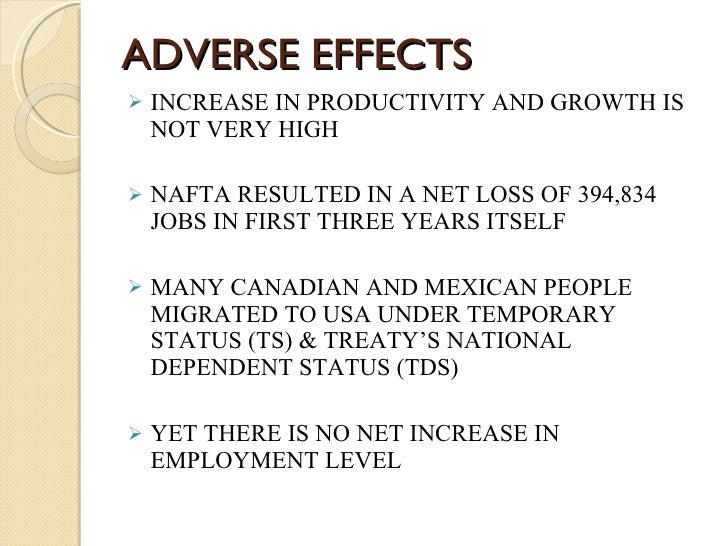 """the background and impact of the north american free trade agreement On oct 7, 1992, president george hw bush stood in san antonio flanked by the president of mexico and the prime minister of canada """"this meeting marks a turning point in the history of our three countries,"""" he said """"we are creating the largest, richest and most productive market in the entire world."""