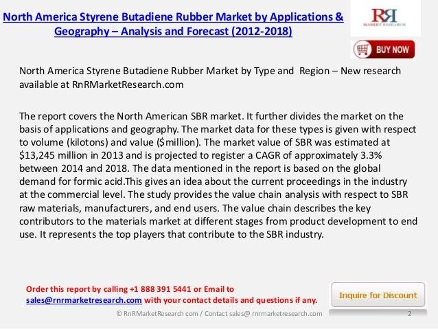 North America Styrene Butadiene Rubber Market Trends 2018 by Opportunities and Application (Tires,Polymer Modification, Adhesives)  Slide 2