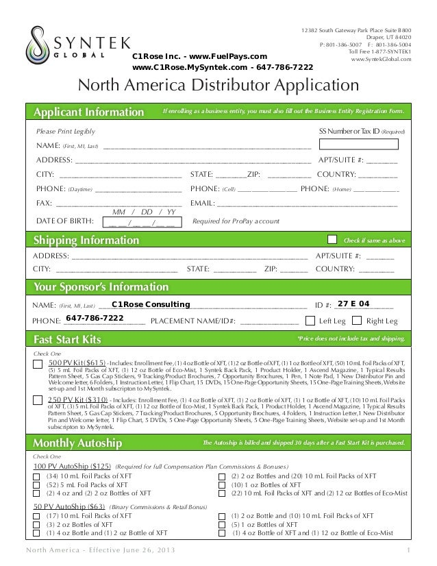 North America Distributor Application Applicant Information If enrolling as a business entity, you must also fill out the ...