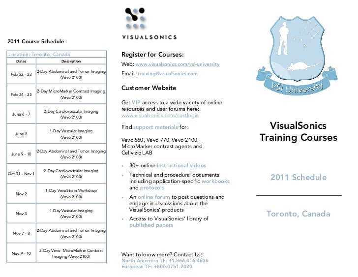 2011 Course ScheduleLocation: Toronto, Canada                             Register for Courses:    Dates                  ...
