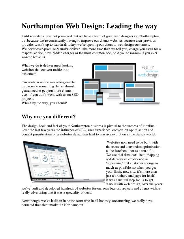 Web Design Courses Northampton