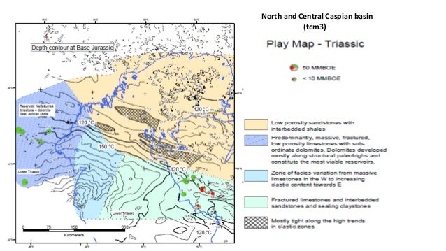North and central caspian basin play maps