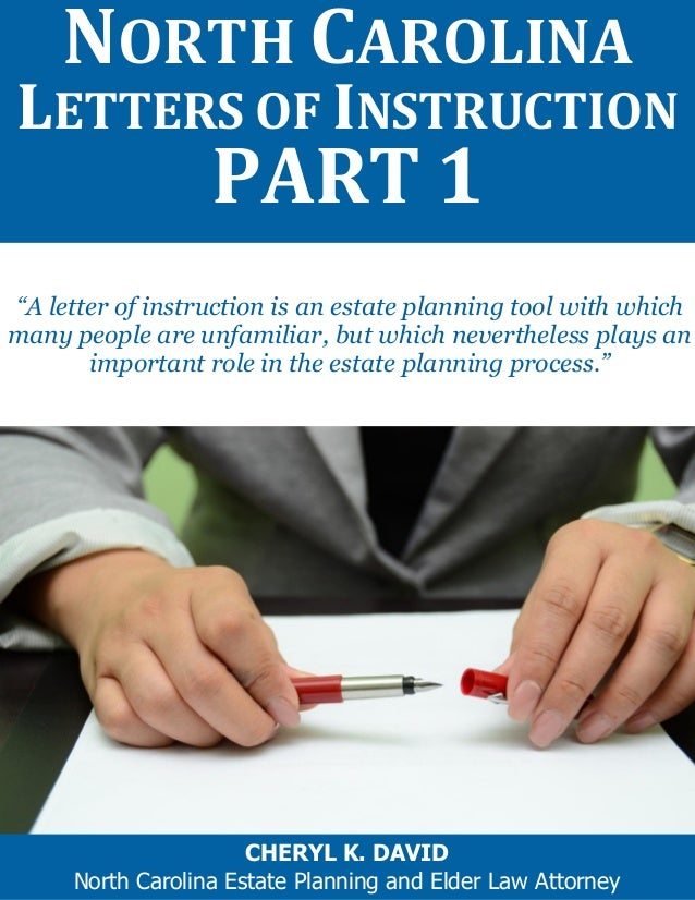 """""""A letter of instruction is an estate planning tool with which many people are unfamiliar, but which nevertheless plays an..."""