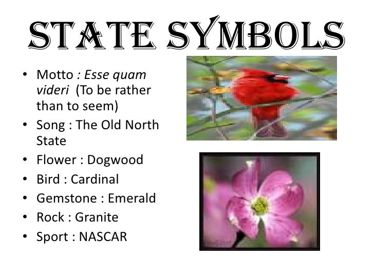 North Carolina Travel Symbols