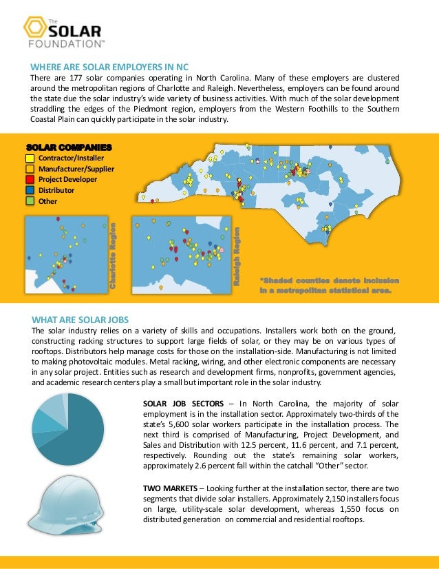 North Carolina Solar Jobs Factsheet