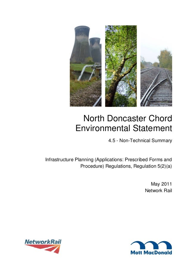North Doncaster Chord              Environmental Statement                             4.5 - Non-Technical SummaryInfrastr...