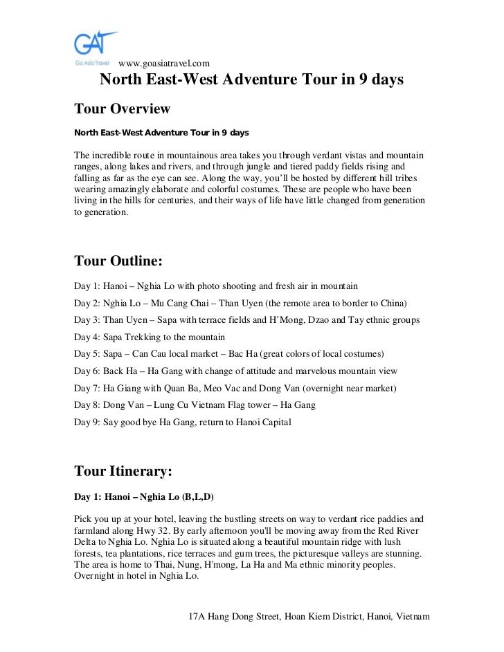 www.goasiatravel.com      North East-West Adventure Tour in 9 daysTour OverviewNorth East-West Adventure Tour in 9 daysThe...
