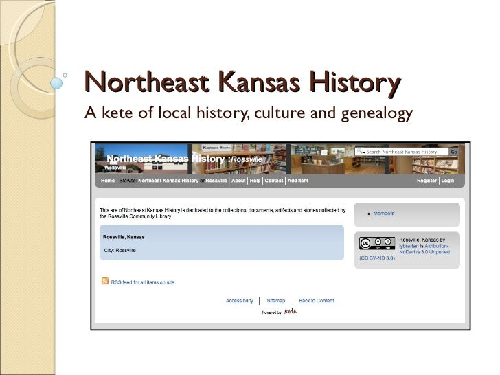Northeast Kansas History A kete of local history, culture and genealogy