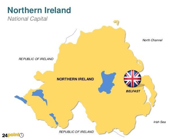 Northern Ireland Editable Powerpoint Map