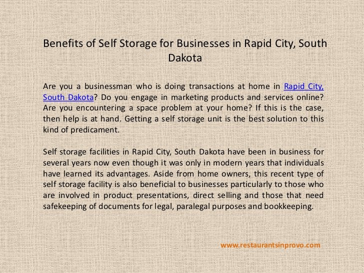Benefits of Self Storage for Businesses in Rapid City, South                           DakotaAre you a businessman who is ...