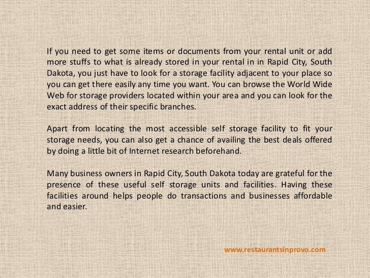 If you need to get some items or documents from your rental unit or addmore stuffs to what is already stored in your renta...