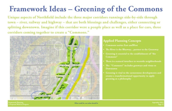 Framework Ideas – Greening of the CommonsUnique aspects of North eld include the three major corridors runnings side-by-si...
