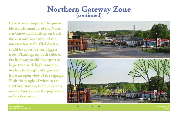 Northern Gateway Zone                                      (continued)Here is an example of the possi-ble transformation o...