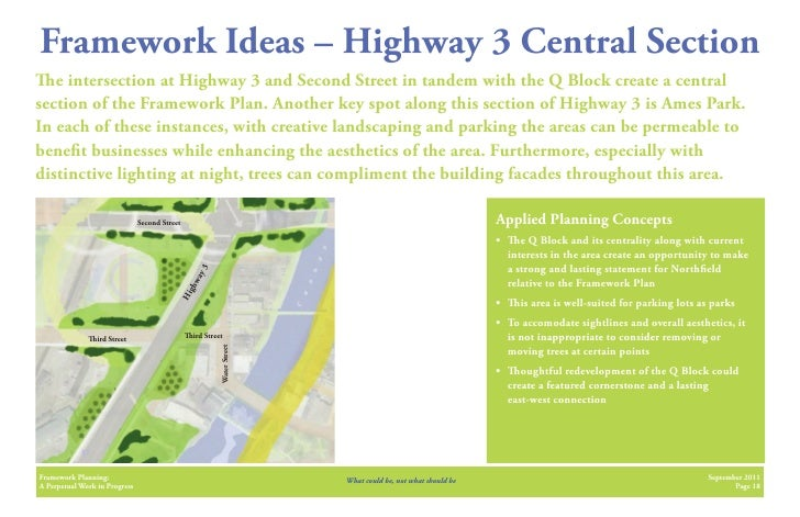 Framework Ideas – Highway 3 Central Section   e intersection at Highway 3 and Second Street in tandem with the Q Block cre...
