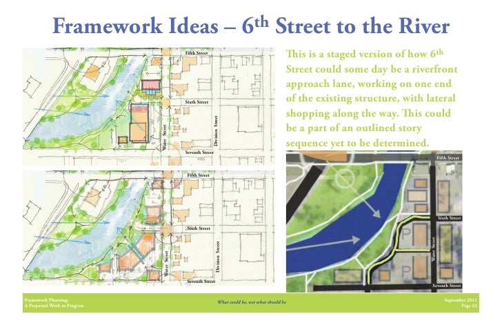 Framework Ideas –                                                         6th            Street to the River              ...