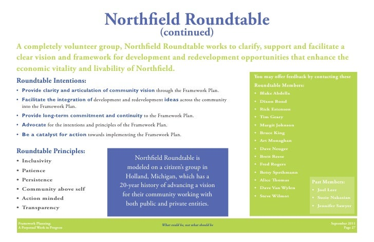 North eld Roundtable                                                                (continued)A completely volunteer grou...