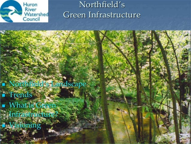 Northfield's Green Infrastructure  Northfield's Landscape  Trends  What is Green Infrastructure?  Visioning