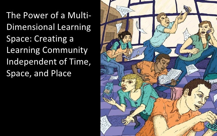 The Power of a Multi-Dimensional Learning Space: Creating a Learning Community Independent of Time, Space, and Place