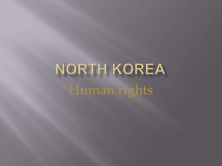 North korea<br />Human rights<br />