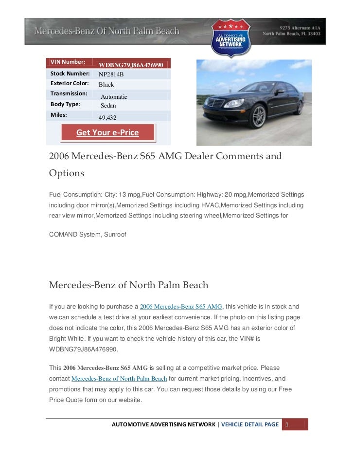 North Palm Beach Mercedes Benz S65 amg for sale