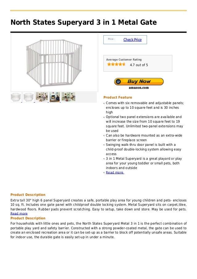 North States Superyard 3 in 1 Metal Gate                                                                 Price :          ...
