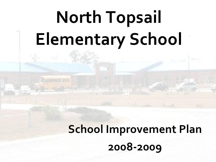 North Topsail Elementary School School Improvement Plan 2008-2009