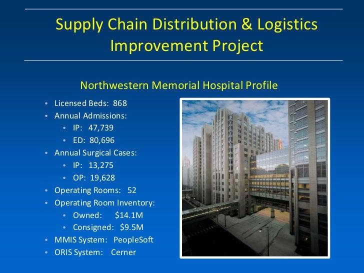 Supply Chain Distribution & Logistics         Improvement Project        Northwestern Memorial Hospital Profile• Licensed ...