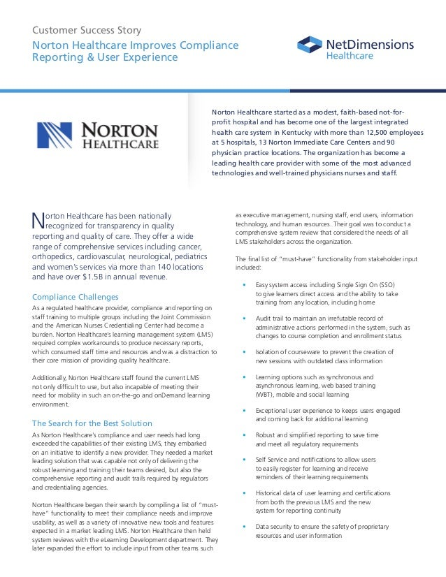 Norton Healthcare Client Success Story