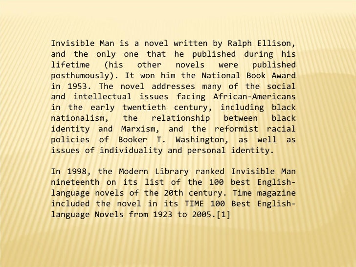 book review of the novel invisible man