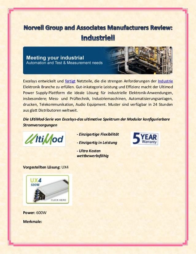 Excelsys entwickelt und fertigt Netzteile, die die strengen Anforderungen der Industrie Elektronik Branche zu erfüllen. Gu...