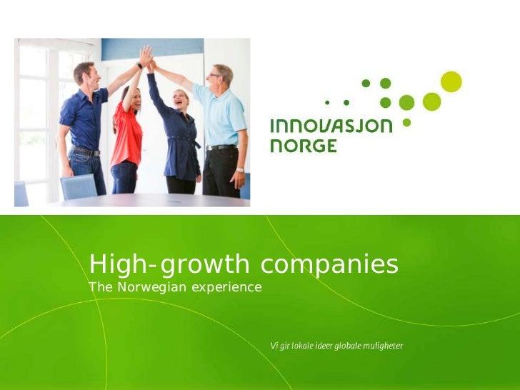 High-growth companiesThe Norwegian experience