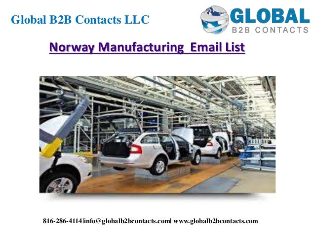 Norway manufacturing email list