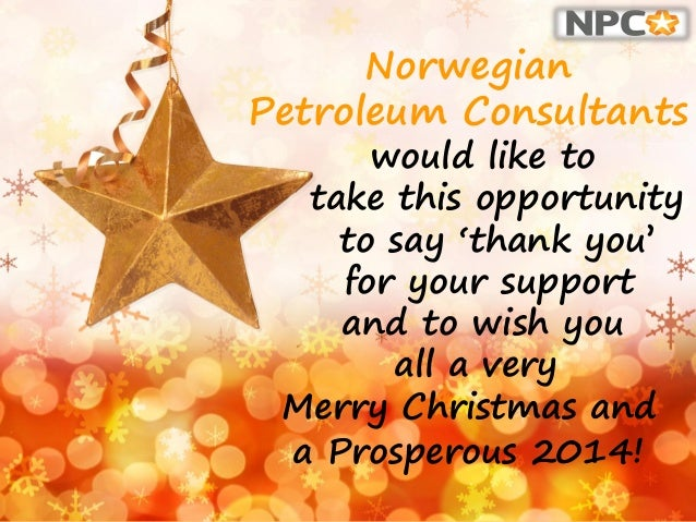 norwegian petroleum consultants would like to take this opportunity to say thank you for - How Do You Say Merry Christmas In Norwegian