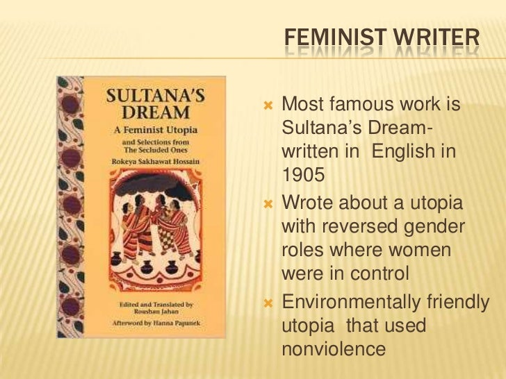 Gender and imperialism in sultanas dream