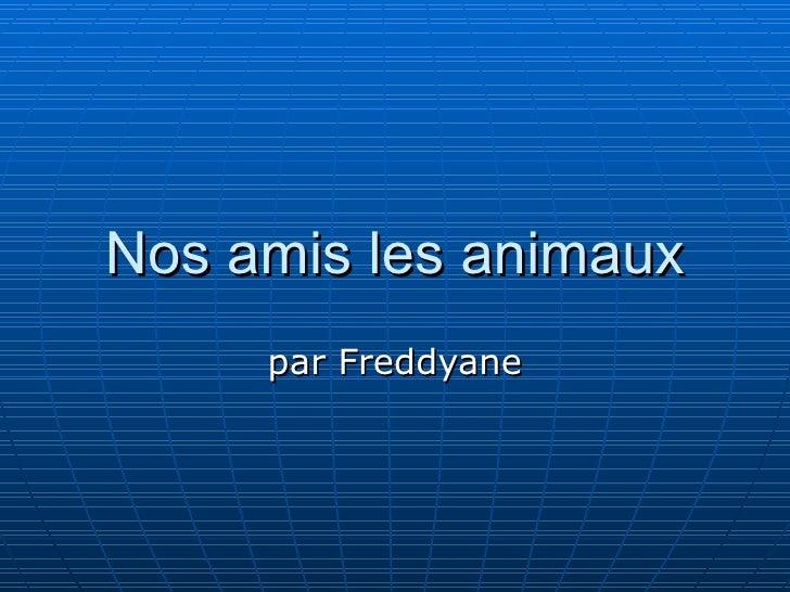 Nos amis les animaux par Freddyane