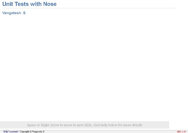 Unit Testing with Nose