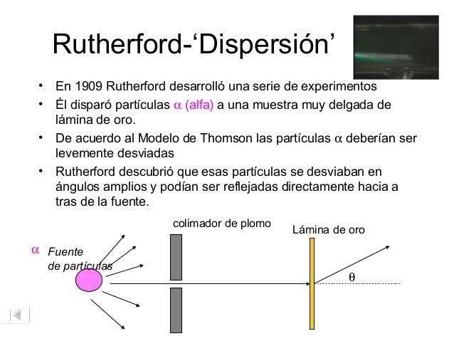 Modelo de rutherford del tomo for Que es una beta de oro