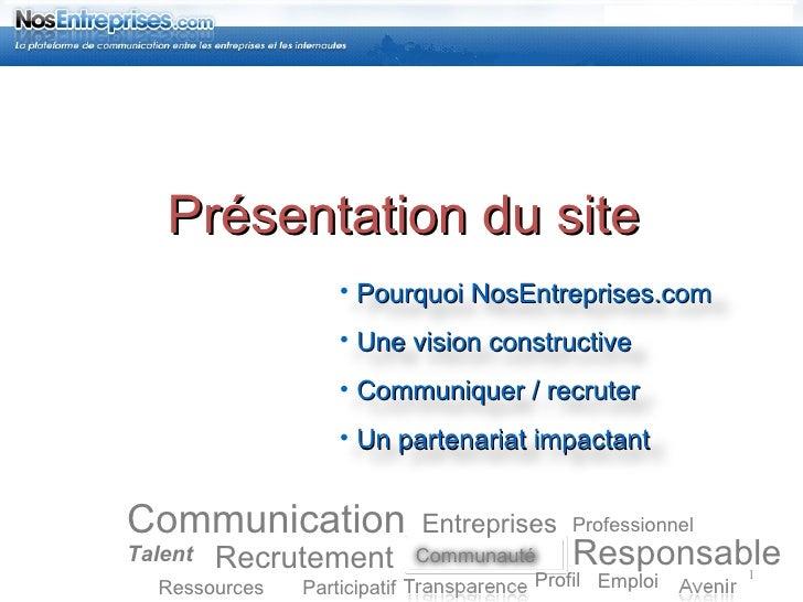 Communication Recrutement Responsable Talent Participatif Emploi Professionnel Profil Entreprises Ressources Présentation ...
