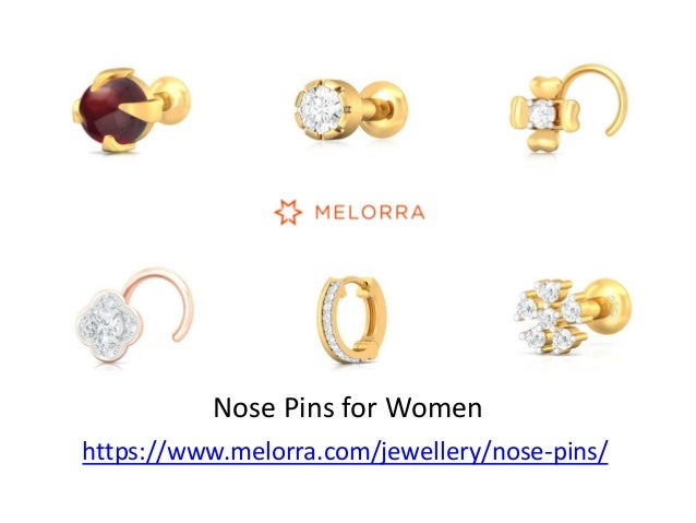 Gold Diamond Nose Pins For Women