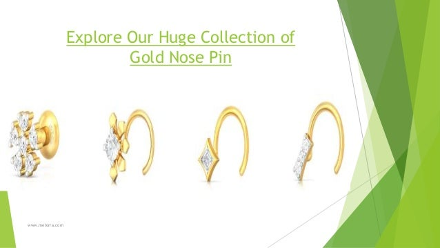 Gold Nose Rings Designs Buy Gold Nose Pins Studs Online At Best Sho